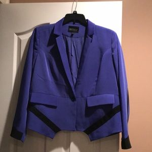 Woman's blue and black jacket